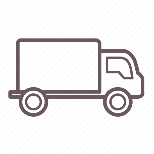 delivery, logistics, mail, plain, shipping, transport, truck icon