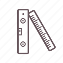 build, construct, engineer, level, measure, plain, ruler icon