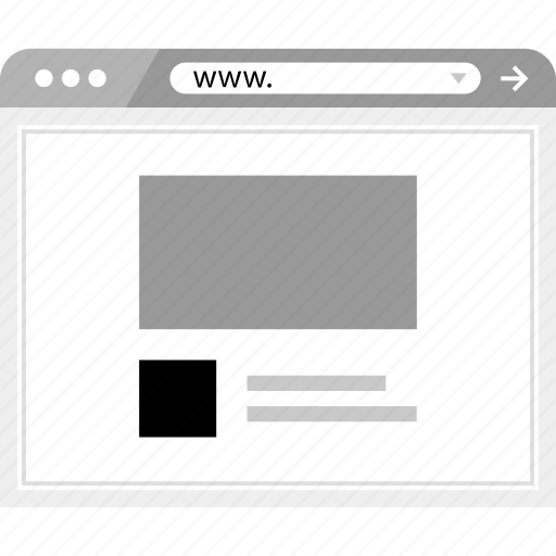 blog, brower, wireframe icon