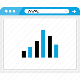bars, brower, data, graph icon