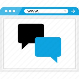 brower, chat, conversation, online icon