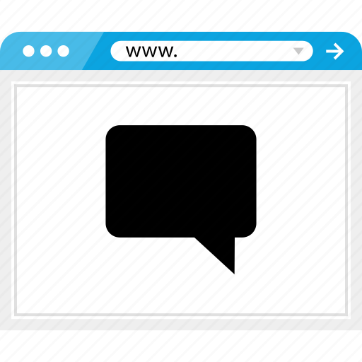 brower, chat, conversation, online, web icon