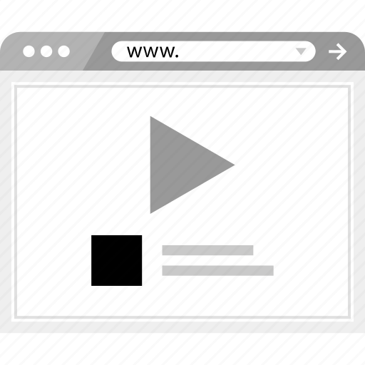 brower, media, wireframe icon