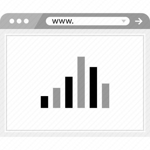 brower, data, wireframe icon