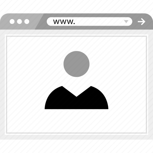 friend, online, wireframe icon
