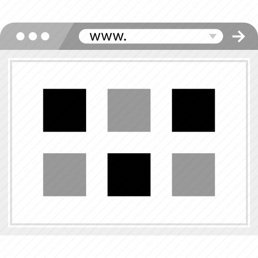 brower, gallery, grid, wireframe icon