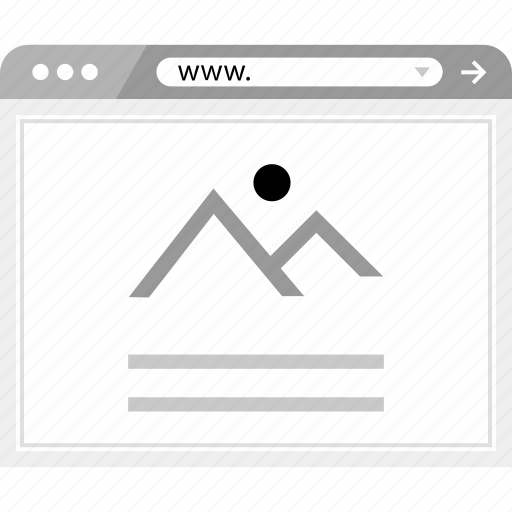 gallery, layout, page icon
