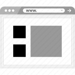 gallery, page, view icon