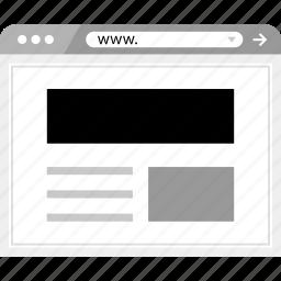 header, layout, online, wireframe icon
