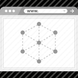 brower, internet, server icon
