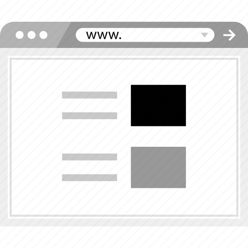 list, page, wireframe icon