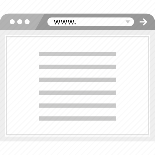 article, brower, news, wireframe icon