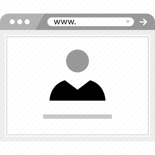 brower, online, wireframe icon