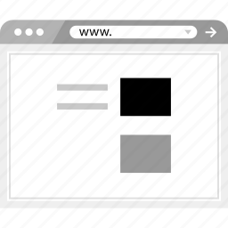 brower, post, wireframe icon