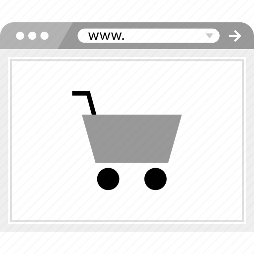 brower, shopping, wireframe icon