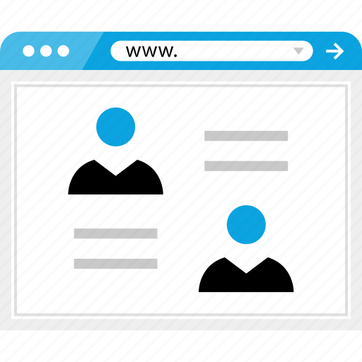 online, profile, user, web, wireframe icon