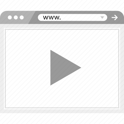 brower, video, wireframe icon
