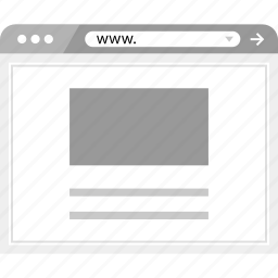 brower, web, wireframe icon