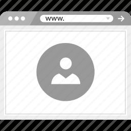 friend, online, web, wirefame icon