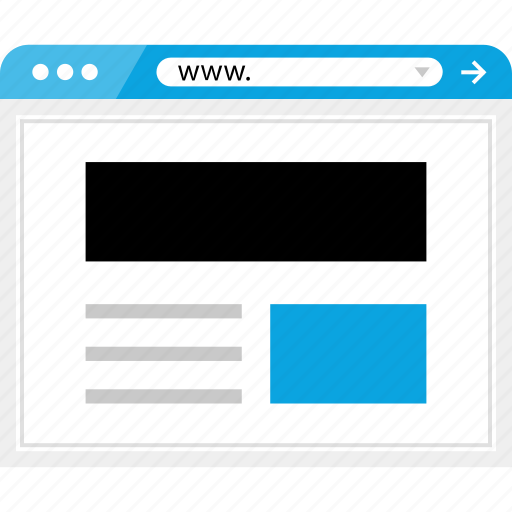 brower, browser, header, online, wireframe icon