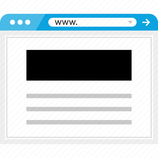 brower, header, page, wireframe icon