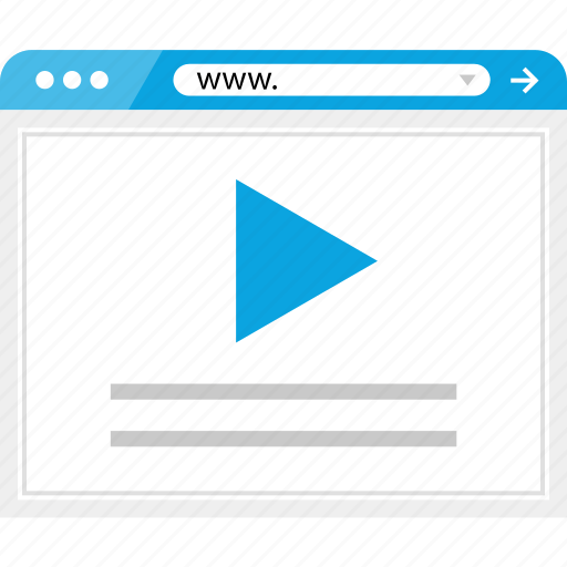 brower, media, play, wireframe, youtube icon