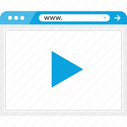 brower, media, play, video, wireframe, youtube icon