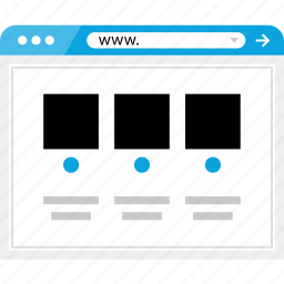blog, brower, gallery, news, post, wireframe icon
