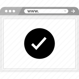 check, mark, wireframe icon