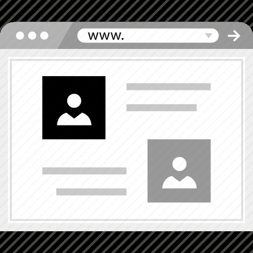 friends, online, wireframe icon