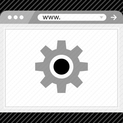 gear, setup, wireframe icon