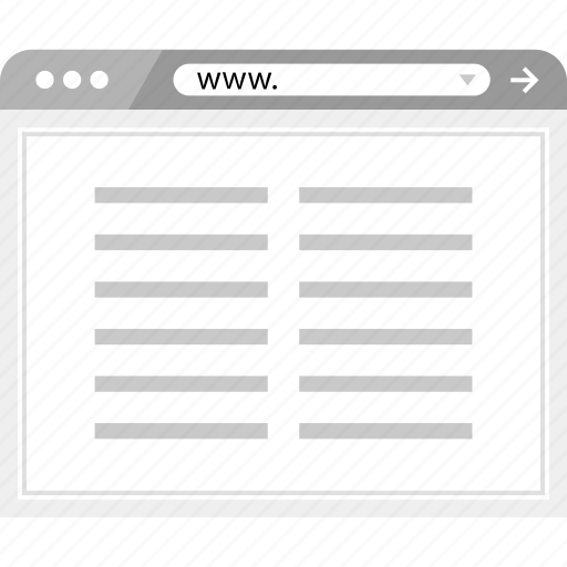 online, paragraph, wireframe icon