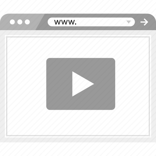 play, video, wireframe icon