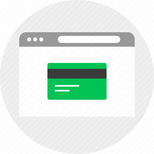 business, card, credit, money, online icon