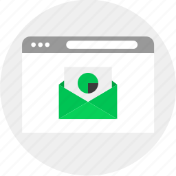 business, chart, email, money icon