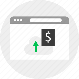 business, cloud, dollar, money icon