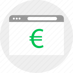 browser, business, euro, money icon