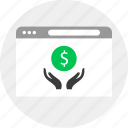 business, dollar, hands, money icon