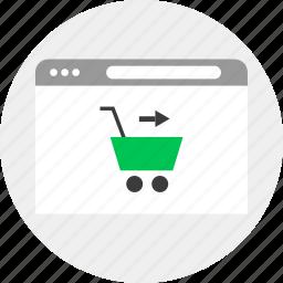 business, cart, go, money, online icon