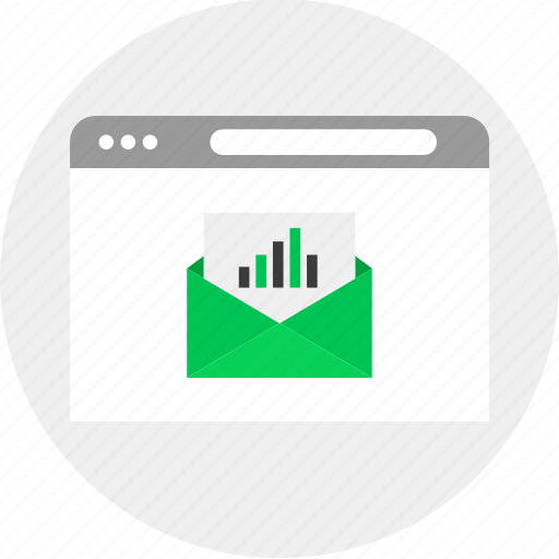 business, email, money, results icon