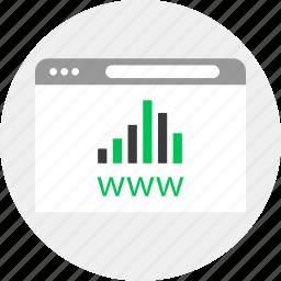 business, data, money, www icon
