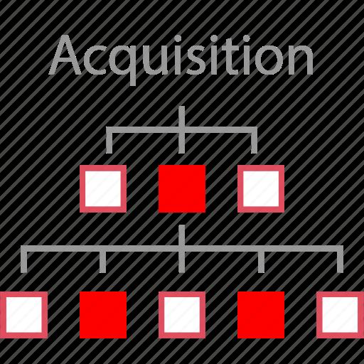 acquisition, assets, marketing, web icon