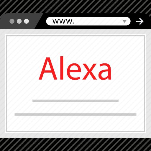 alexa, ranking, rating, web icon