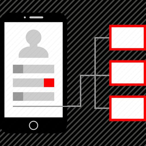 connection, marketing, phone, seo icon