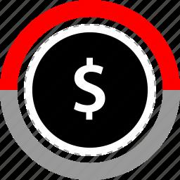 dollar, marketing, money, sign icon