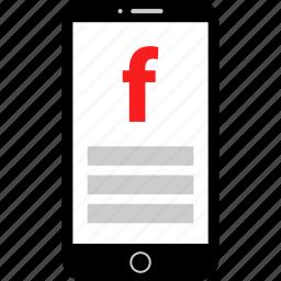 connect, facebook, mobile, responsive icon