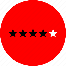 four, rating, star, yelp icon