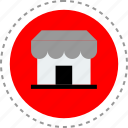 front, internet, seo, store icon