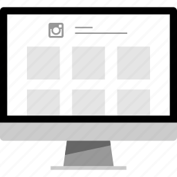 home, instagram, online, page icon