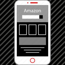 amazon, mobile, shopping icon